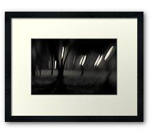 Men Walking Framed Print