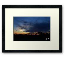 Sunset Over Idaho Framed Print