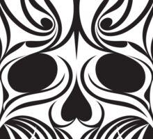 Abstract Scull Illustration - sticker Sticker