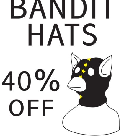 Bandit Hats Sticker