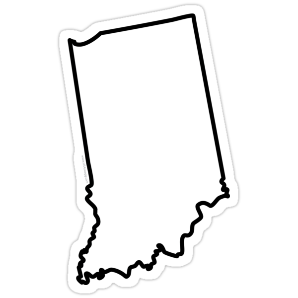 Indiana State Outline by Carolina Swagger