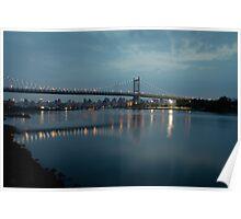 Triborough Bridge at Night Poster