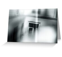 window in paris, black and white burnt film Greeting Card