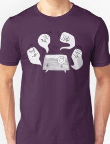 Music Lovers - funny cartoon drawing of ghosts in fez and mustache T-Shirt