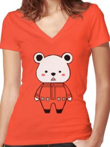 Bepo! Women's Fitted V-Neck T-Shirt
