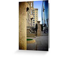 Streetscape, Baku, Azerbaijan Greeting Card