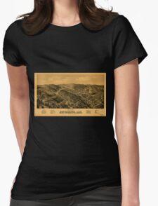 Panoramic Maps Bird's eye view of Hot Springs Ark T-Shirt
