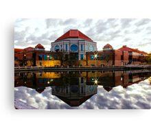 Tuggeranong Library Just on Nightfall stunning reflection Canvas Print