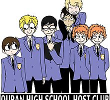 Ouran High School Host Club Doodle by Adzie Doodles