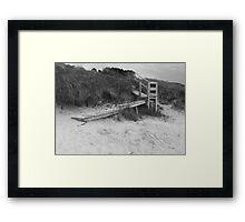 Dune stairway Framed Print