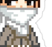 Attack on Titan - Cleaning Levi Pixel Sprite Sticker