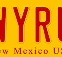 License Plate - LWYRUP Sticker