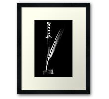 Quill & Sword Framed Print