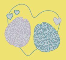 Pastel Brains in Love Kids Tee