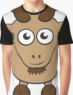 Grover The Goat in Brown Graphic T-Shirt