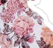 Floral Wolf 1 Sticker
