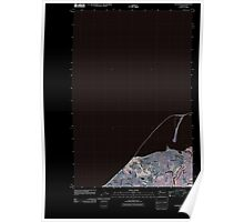 USGS Topo Map Washington State WA Dungeness 20110419 TM Inverted Poster