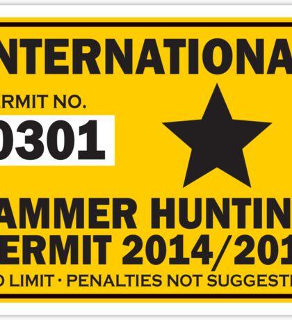 Jammer Hunter Roller Derby Permit Sticker