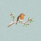 Robin on Branch by Sophie Corrigan
