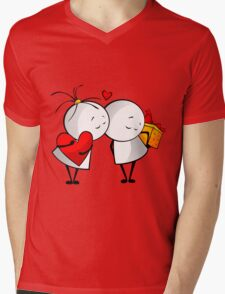 Friends Forever Mens V-Neck T-Shirt