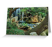 Japanese Gardens. Greeting Card