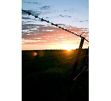 Wimmera sunset Photographic Print