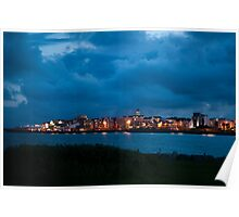 Blue hour at the Salthill coast 2 Poster