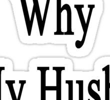If I'm So Dumb Why Is My Husband A Fireman?  Sticker