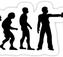 Zombie evolution Sticker