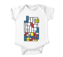 COMPOSITION WITH FALLING BLOCKS One Piece - Short Sleeve