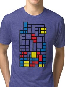 COMPOSITION WITH FALLING BLOCKS Tri-blend T-Shirt