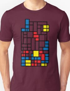 COMPOSITION WITH FALLING BLOCKS Unisex T-Shirt