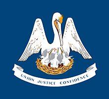 Louisiana State Flag Mardi Gras New Orleans Duvet T-Shirt Sticker by deanworld