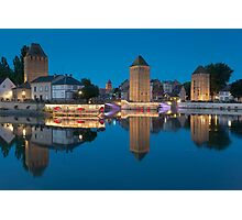 Covered bridge, in the petite france, Strasbourg Photographic Print