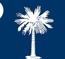 South Carolina State Flag Columbia Bedspread T-Shirt Sticker by deanworld