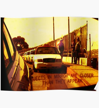 Mexican Border Cab Line Poster
