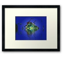 Loonie #4:  Ghost Ship on a Moonlit Bay  (UF0786) Framed Print