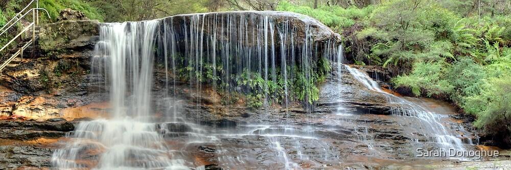 Weeping Rock Falls in Panorama by Sarah Donoghue