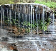 Weeping Rock Falls in Panorama by Sarah Donoghue