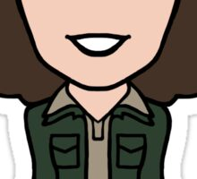 Sarah Jane Smith: Classic Who outfit (sticker) Sticker