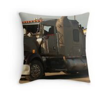 Truck 7942 Green Throw Pillow