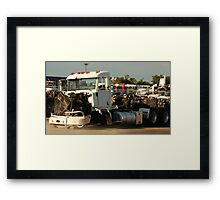 Truck 7946 White Framed Print