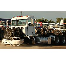 Truck 7946 White Photographic Print