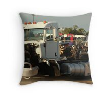 Truck 7946 White Throw Pillow