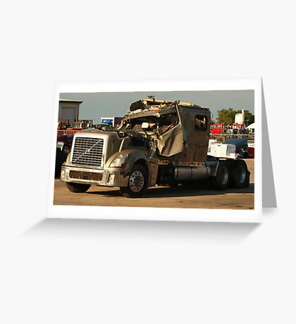 Truck 7949 Green Greeting Card
