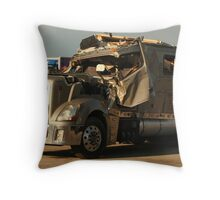 Truck 7949 Green Throw Pillow