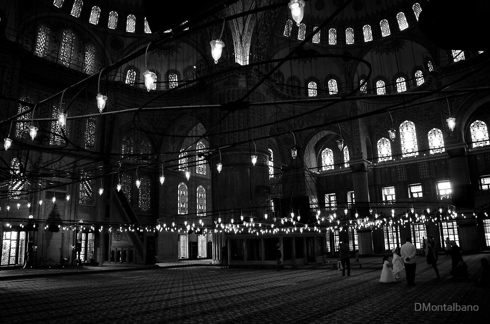 Blue Mosque after prayer by DMontalbano