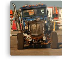 Truck 7957 Blue Metal Print