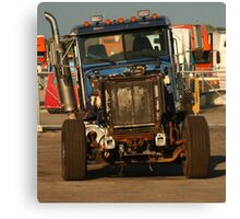 Truck 7957 Blue Canvas Print