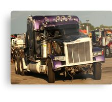 Truck 7950 Purple Metal Print